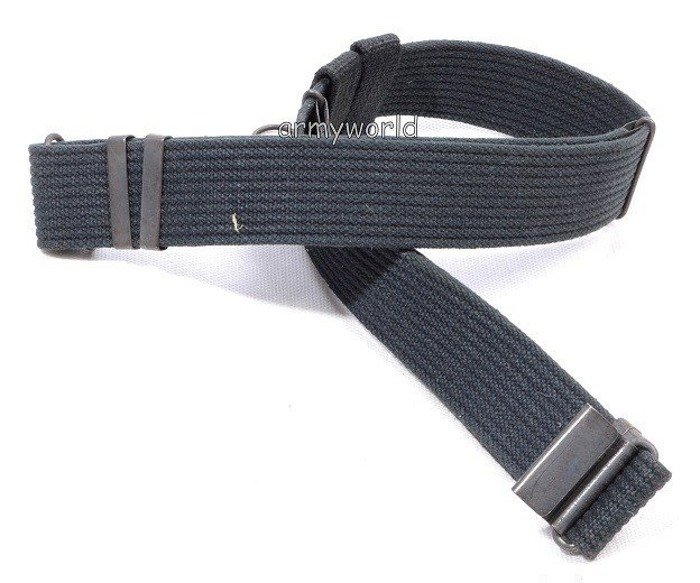 Polish Military webbing Belt Black Original Demobil SecondHand