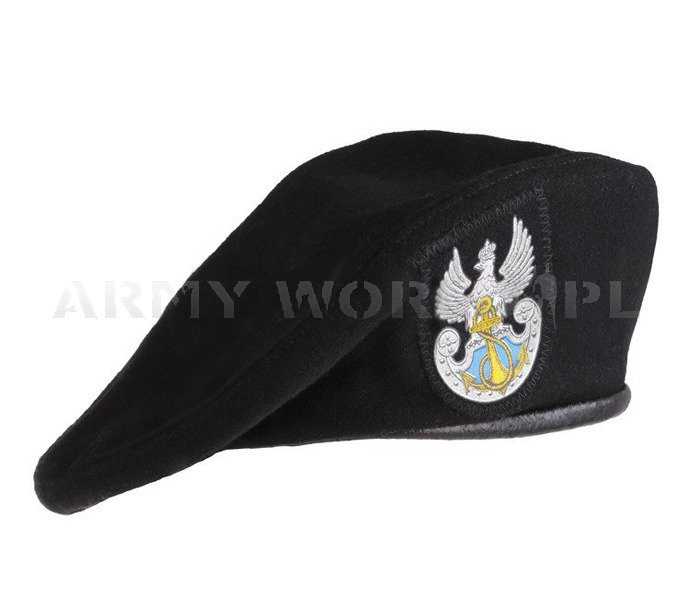 Polish military beret Sailor Black Original New