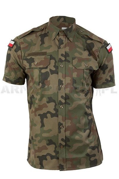 Polish military shirt WZ 93 304/MON Original - Demobil - SecondHand