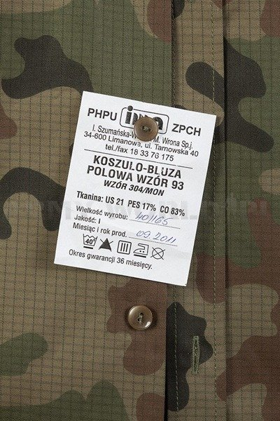 Polish military shirt WZ 93 304/MON Original New