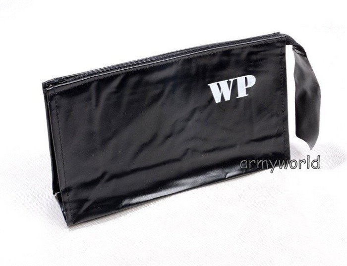 Polish military toilet bag - Black - Original -  New