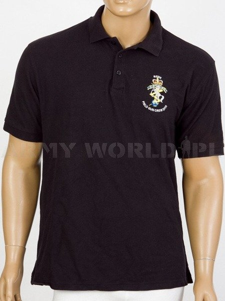Polo shirt British Army With Badge Field Gun Crew 2013 Black Used