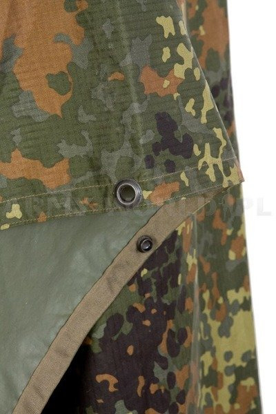 Poncho Military Bundeswehr Rainproof Flecktarn Original Used
