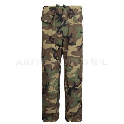 Rainproof Trousers IMPROVED RAINSUIT US Army Woodland Original Demobil
