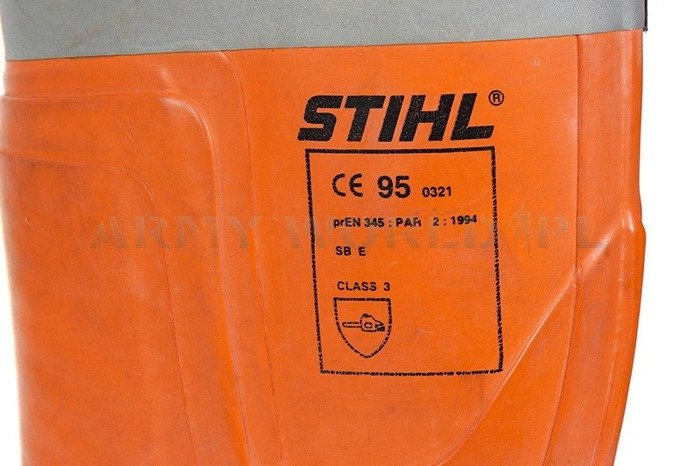Rubber Chainsaw Wellingtons Stihl Class 3 Bundeswehr Original Demobil