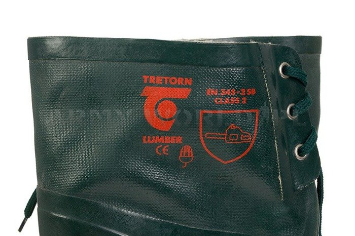 Rubber Chainsaw Wellingtons Tretorn Lumber Class 2 Bundeswehr Original Demobil