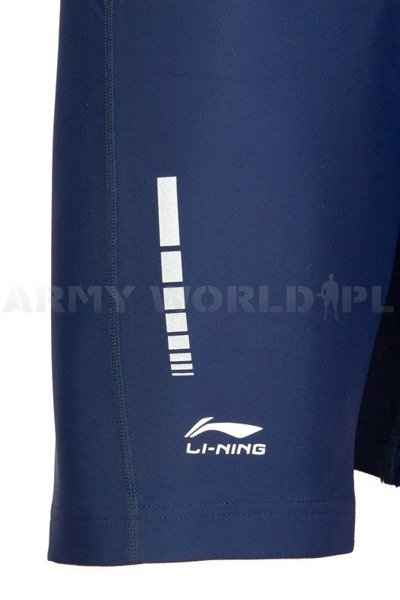 Running Tights Short Men Li-ning Dutch Army M2 Navy Blue Oryginal Used