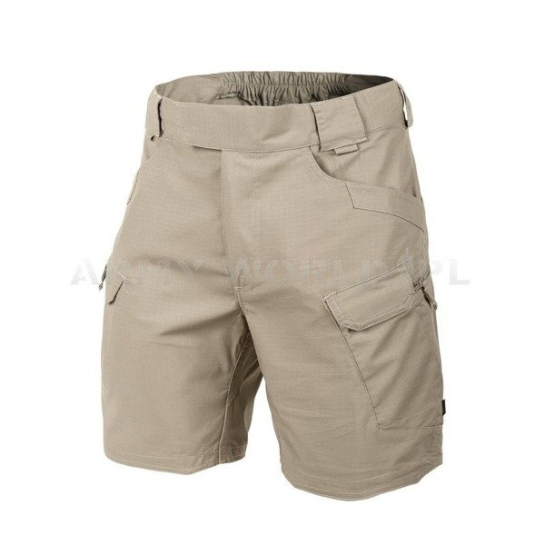 "SHORTS Urban Tactical Shorts Helikon-tex- Khaki Ripstop 8.5"" New"