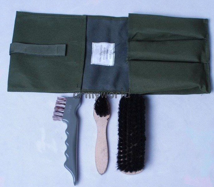 Set Of Shoebrushes To Military Boots Dutch Original New