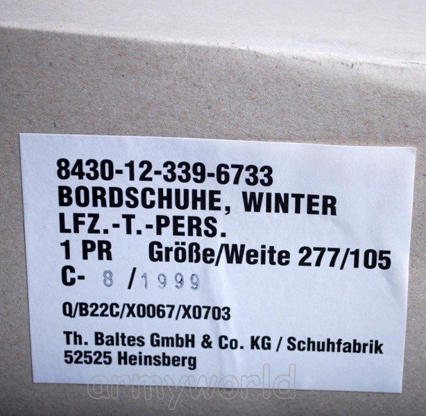 Shoes LFZ Bundeswehr Bordschuhe winter Version Original New