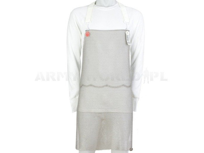 Short Metal Protective Apron Sleeveless Schlachthausfreund Stainless Steel New