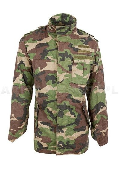Slovakian Army Combat Jacket  M97 Woodland Camo Original Used