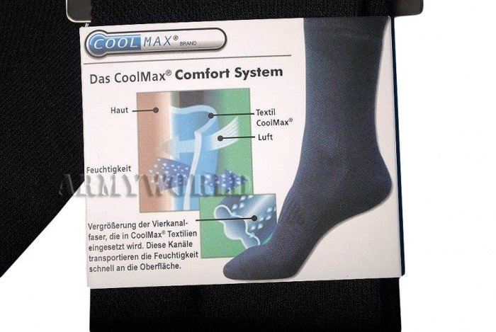 Socks COOLMAX Trekking Long Black- Mil-tec New