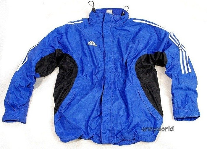 Sport Rainproof Jacket ADIDAS Bundeswehr Dark Blue Original Demobil