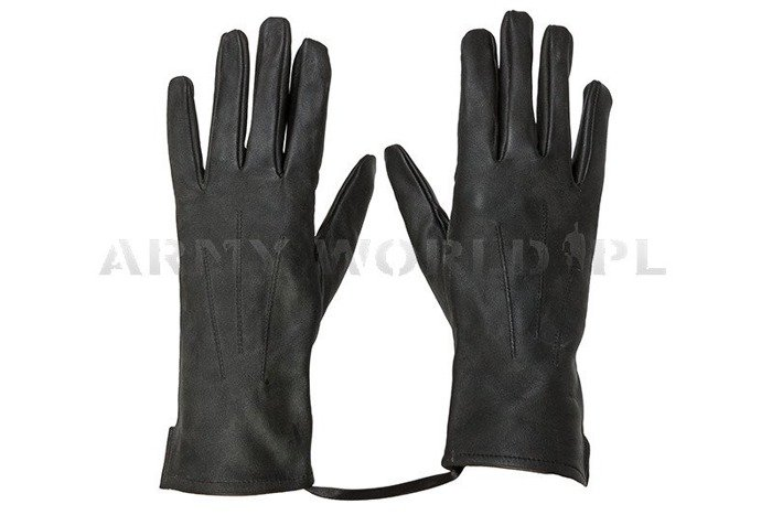 Summer Leather Officer Gloves Polish  962/MON Original Black New