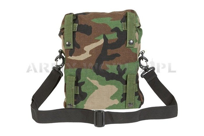 Sustainment Pouch On Strip Woodland Military American MOLLE Original Demobil