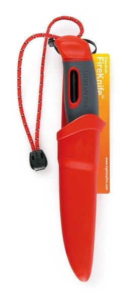 Fire Knife LIGHT MY FIRE with fire-starter - red - original - new