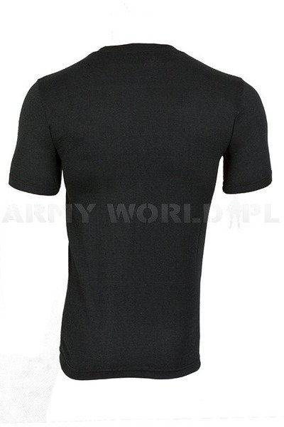 T-shirt Coolmax ® Short Sleeves Termoactive Black Mil-tec New