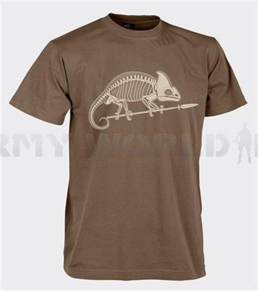T-shirt Helikon-Tex With Skeleton Of Chameleon US Brown