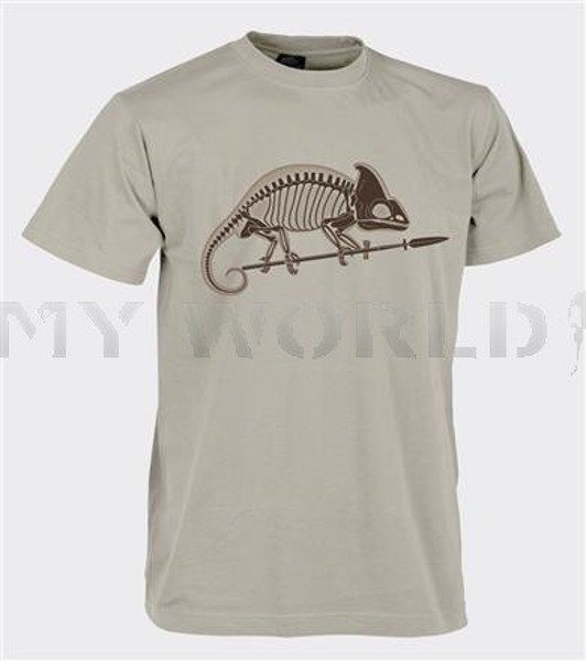 T-shirt Helikon-Tex  With Skeleton of Chameleon Beige New