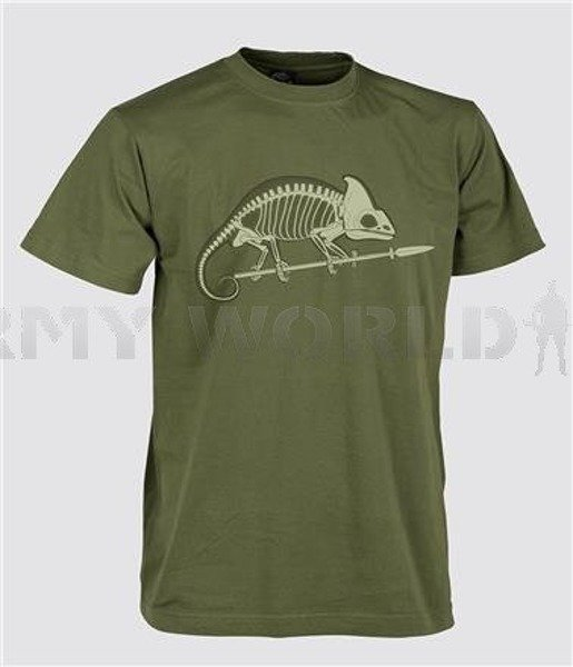 T-shirt Helikon-Tex  With Skeleton of Chameleon US Green