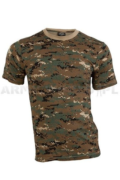 T-shirt Military Digital Woodland Marpat Short sleeves Mil-tec New
