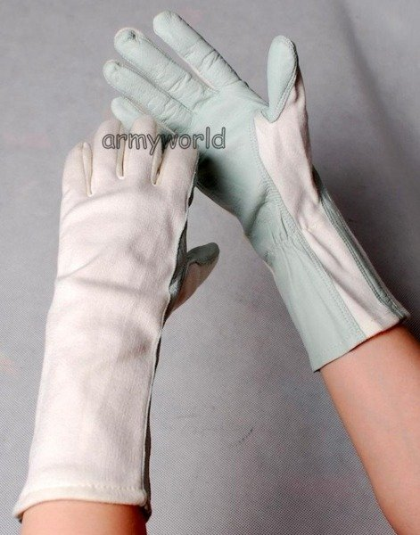 Tactical Pilot Gloves White Original Bundeswehr Leather New