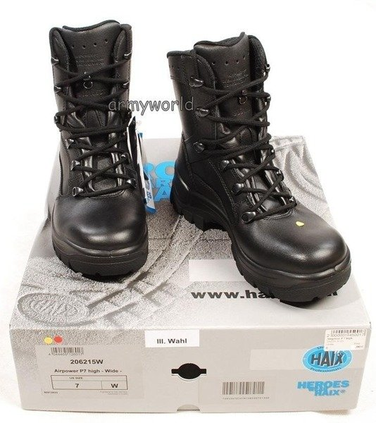 Tactical Shoes P7 High Haix®  Gore-tex®  Leather Black New II Quality