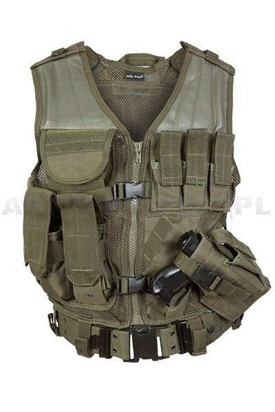 Tactical Vest USMC with handgun holster and with LC2 belt  Oliv New