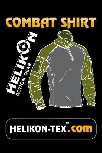Tactical shirt to wear with tactical vest Combat Shirt Helikon-Tex with protection pads New black