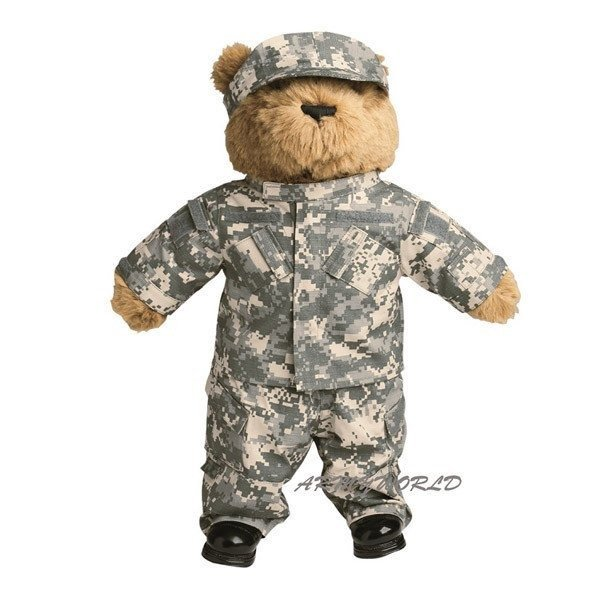 Teddy soldier in military uniform ACU- UCP Mil-tec