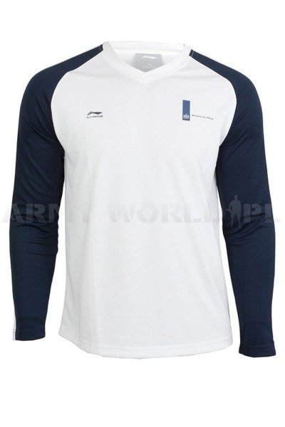 Thermoactive Blouse Coolmax Long Sleeve White/Navy Blue New