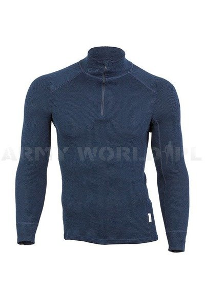 Thermoactive Dutch Military Trikot Thermowave Navy Blue Original Used