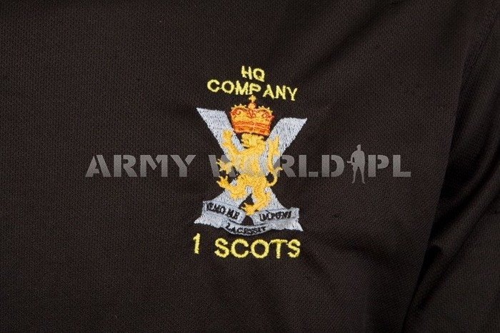 Thermoactive T-shirt Coolmax With Badge 1 Scots Black Used