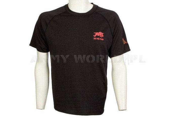 Thermoactive T-shirt Coolmax With Badge 5 HQ Sqn / III FIGHTING Through Black Used