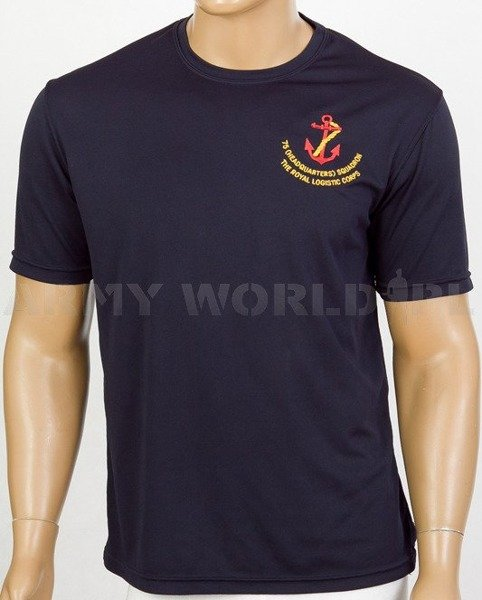 Thermoactive T-shirt Coolmax With Badge 75 Headquarters Squadron Navy Blue Used