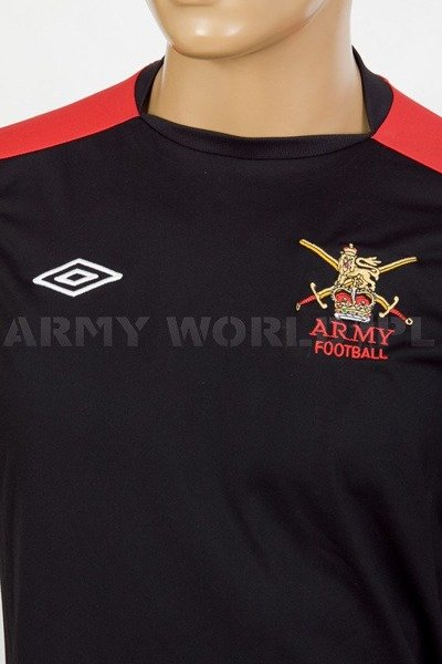 Thermoactive T-shirt Coolmax  With Badge Army Football Black-Red Used