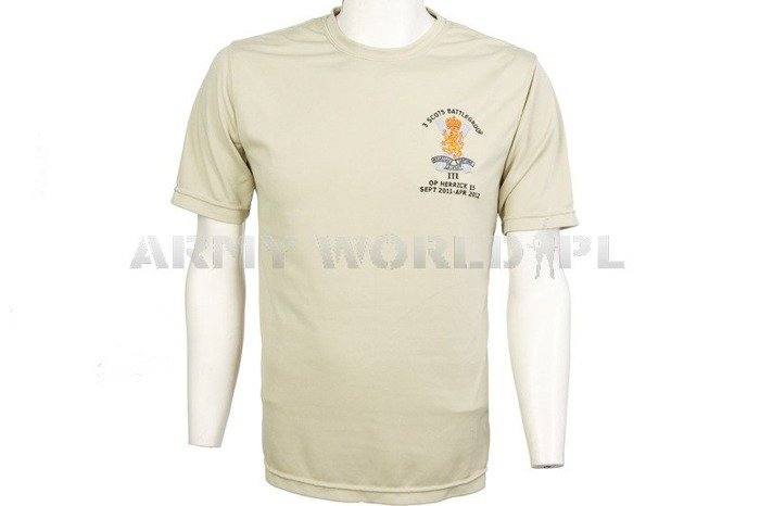 Thermoactive T-shirt Coolmax With Badge Beige Used