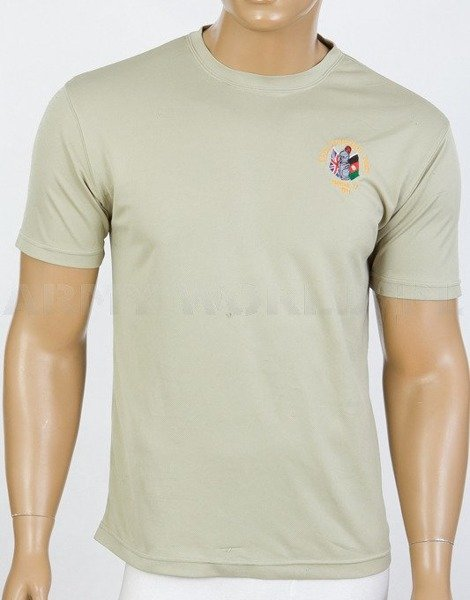 Thermoactive T-shirt Coolmax  With Badge Close Protection Team Khaki Used