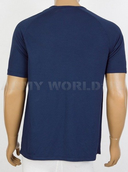 Thermoactive T-shirt Coolmax With Badge Garrison Support Unit  Navy Blue Used