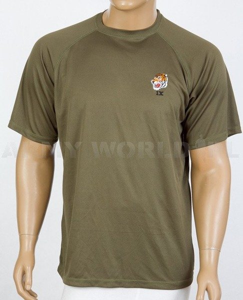 Thermoactive T-shirt Coolmax  With Badge Oliv Used
