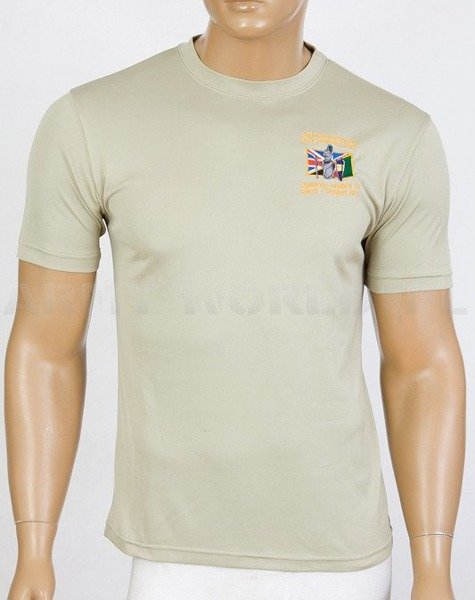 Thermoactive T-shirt Coolmax  With Badge Operation Herrick 16 Khaki Used