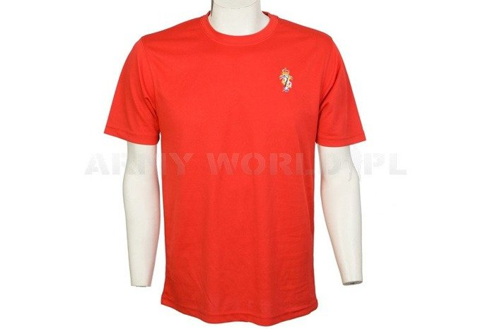 Thermoactive T-shirt Coolmax With Badge Red Used