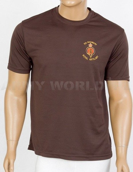 Thermoactive T-shirt Coolmax  With Badge  Royal Artillery Brown Used