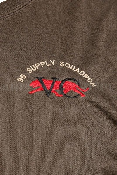 Thermoactive T-shirt Coolmax  With Badge Supply Squadron Oliv Used