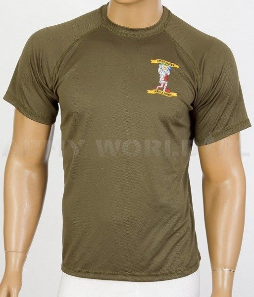Thermoactive T-shirt Coolmax  With Badge Support Squadron Oliv Used