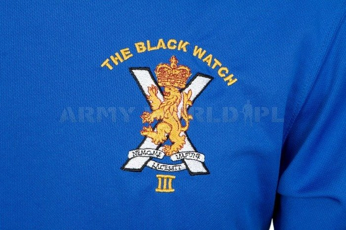 Thermoactive T-shirt Coolmax With Badge The Black Watch Blue Used
