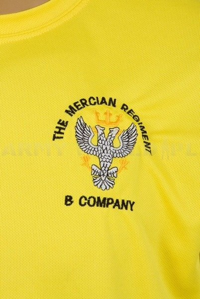 Thermoactive T-shirt Coolmax  With Badge The Mercian Regiment Yellow Used