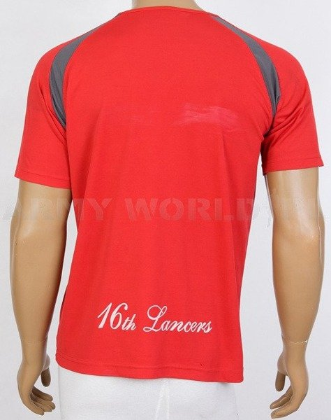 Thermoactive T-shirt Coolmax With Badge The Queen's Lancers Red Used