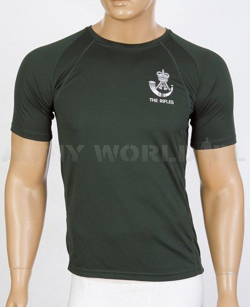 Thermoactive T-shirt Coolmax  With Badge The Rifles Dark Green Used